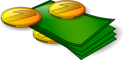 clipart-money-banknotes-and-coin-256x256-c51e