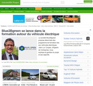 Article Jean-Luc COUPEZ - BLUE2BGREEN sur Automobile Propre