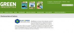 GREEN MAGAZINE parle de BLUE2BGREEN - Jean-Luc COUPEZ